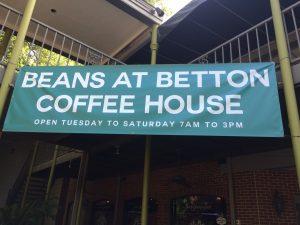 Beans @ Betton sign